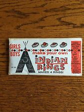 Vintage Indian Ring Kits for Boys and Girls...From the 50s/60s