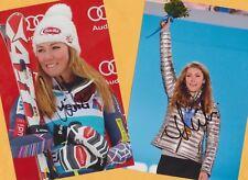 Mikaela shiffrin - 2 top autógrafo imágenes (22) - Print copies + ski ak firmado