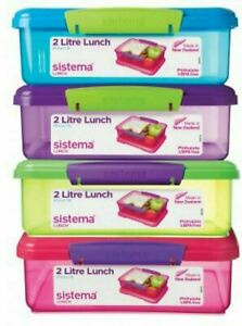 Sistema Lunch Box, 2 L - Assorted Colours New