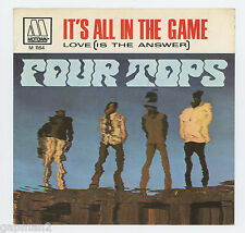 Four Tops 1970 Motown 45rpm Picture Sleeve (only) It's All In the Game b/w Love