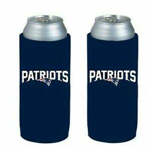 New England Patriots NFL 2 pack Ultra Slim Can Koozie Cooler Hugger