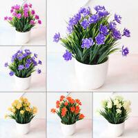Simulation Artificial Potted Flower Bonsai Pot Plant Home Table Ornament Decor