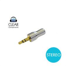 MINIKLINKE KLINKEN STECKER 3,5mm STEREO VERGOLDET - CHROM - HIFI - HIGHEND