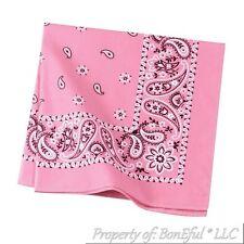 BonEful Fabric Cotton Square Pink White Cowgirl Breast Cancer Head Wrap Bandanna