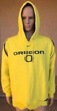 Oregon Ducks Authentic Nike Team Hoodie Sweatshirt Size 2XL Yellow & Green
