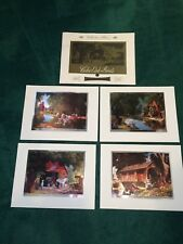 Vintage Paul Detlefsen Color-etch Prints..4 prints..Mint Condition..from 1960's