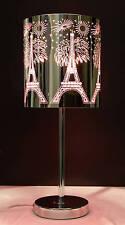 Metal Table Lamp  Pink Eiffel Towe 001