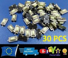 30x New Switch Button for Remote Key Fob Toyota, Mercedes, Vauxhall, Renault etc