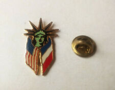 Pin's Statue Liberté Drapeau France Etats-Unis Liberty Island Pins Pin Badge