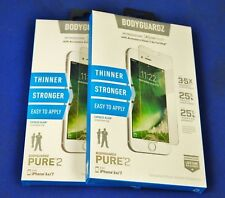 New BodyGuardz Pure2 Tempered Glass Screen Protector Apple iPhone  6s 7  -CLEAR
