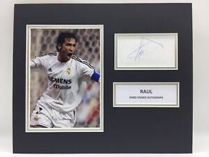 RARE Raul Real Madrid Signed Photo Display + COA AUTOGRAPH SPAIN