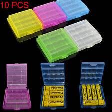 10PCS Hard Plastic Case Holder Storage Box Cover for Rechargeable AA AAA Battery
