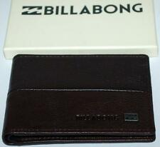 BILLABONG WALLET mens NEW exchange BROWN Genuine Leather SURF Bifold Slim Trendy