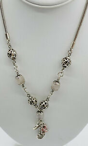 Brighton Power of Pink Crystal Bead 2007 POP Necklace Live The Life You Love