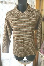 VINTAGE  80'S ~ Autumn Stripe ~ JUMPER/TOP * Size 10 * REDUCED !!