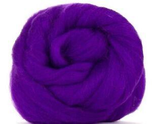 Corriedale Wool Combed TopRoving Magenta