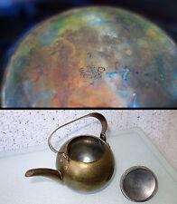 Karl Raichle, Meersburg Hand Hammered Brass Tea Kettle BAUHAUS Germany Art Deco