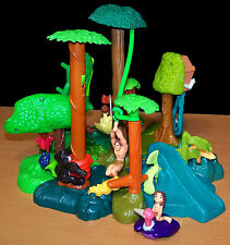 2000 McDonald's Happy Meal Tarzan Bases (Complete Set) + Accessories