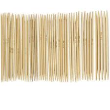 55Pcs 11sizes 13cm Double Pointed Carbonized Bamboo Crochet Knitting Needles Lot
