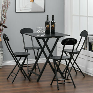 Square Bistro Garden Set Folding 3/5pc Set Perfect For Patio Balcony,Home Office