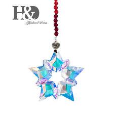 2019 Hanging Crystal Pendant Christmas Large Star Snowflake Ornament AB color