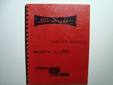 ORIGINAL Sony Superscope Model 200 Stereophonic Tape Recorder Service Manual