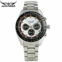 Men's Watch Automatic Mechanical Watch Stainless Steel Skeleton Wristwatch