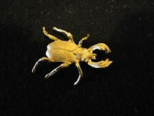 Solid brass stag beetle garden/indoor decoration 1.5 x 1'' or 3.5 x 2.5cms
