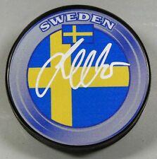 JACOB MARKSTROM Signed SWEDEN FLAG HOCKEY PUCK 1007066