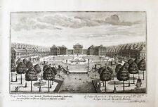 1720 München Nymphenburg Stadtseite Kupferstich-Ansicht Corvinus Disel