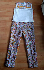 PRADA 2015 Runway embroidered chinos pants trousers silk blend IT40 S M