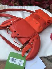 KATE SPADE NEW YORK NORTH SOUTH LOBSTER LEATHER SMARTPHONE CROSSBODY, NWT