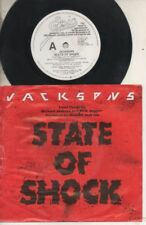 """THE JACKSONS   Rare 1984 Aust Promo Only 7"""" OOP Pop P/C Single """"State Of Shock"""""""