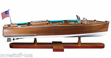 Riva Aquarama Triple Cockpit 26 inch Wood Model Boat by Authentic Models AS183