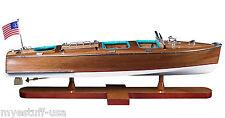 Authentic Models AS183 Riva Aquarama Triple Cockpit 26 inch Wood Model Boat