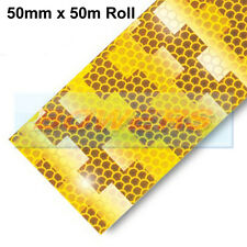 AVERY DENNISON V-6701B YELLOW AMBER CONSPICUITY TAPE 50mm X 50M RIGID TRAILERS