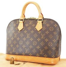 Authentic LOUIS VUITTON Alma Monogram Hand Bag Purse #37429