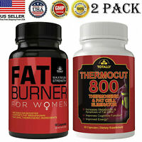 Women Fat Burner Caps Thermogenic Thermocut 800 Fat Burn Weight Loss Caps 2 Pack