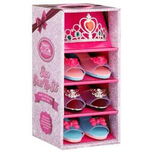 Princess Girls Set of 3 Slipper Play Shoes & Tiara Crown Fancy Dress Up Gift Set