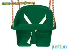 BUCKET  SWING for Toddler SEAT GREEN  Set  Playground Outdoors Play Fun