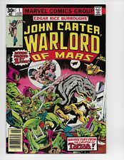 JOHN CARTER, WARLORD OF MARS 1 - NM- 9.2 - ORIGIN ISSUE (1977)