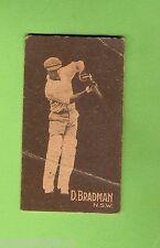 1930s  ALLEN'S STEAM ROLLERS  CRICKET CARD  D. BRADMAN, NSW