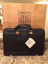 Hartmann LoMBARDO Leather Attache Slim Line Briefcase Rare New In Box Italy NOS