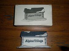 Dept. 56 Alpine Village Sign #65714 W/Box Euc