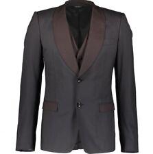 DOLCE & GABBANA Black Blazer Jacket and Burgundy Waistcoat BNWT IT52 UK42
