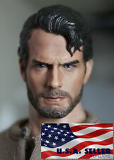1/6 Henry Cavill Superman Head Sculpt Clark Kent 3.0 For Hot Toys Male Figure