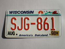 AUTHENTIC 1998 WISCONSIN LICENSE PLATE