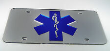 EMT EMS RESCUE FIREFIGHTER MIRROR LICENSE PLATE INLAID ACRYLIC LASER CUT