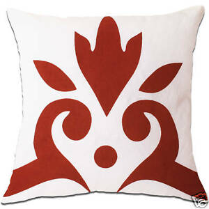 baroque white and red cushion covers