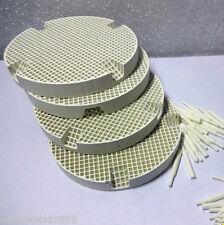 4 Pcs Dental Lab Honeycomb Porcelain Round Firing Trays with 40 Zirconia Pins
